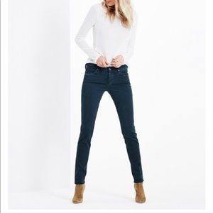 Ag Jeans • The Stilt Cigarette Leg Dark Teal • 26